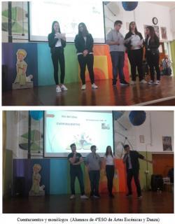 Cuentacuentos y monólogos  (Alumnos de 4ºESO de Artes Escénicas y Danza)