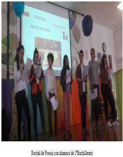Recital de Poesía con alumnos de 2ºBachillerato