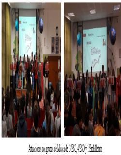 ctuaciones con grupos de Música de  3ºESO, 4ºESO y 1ªBachilletato